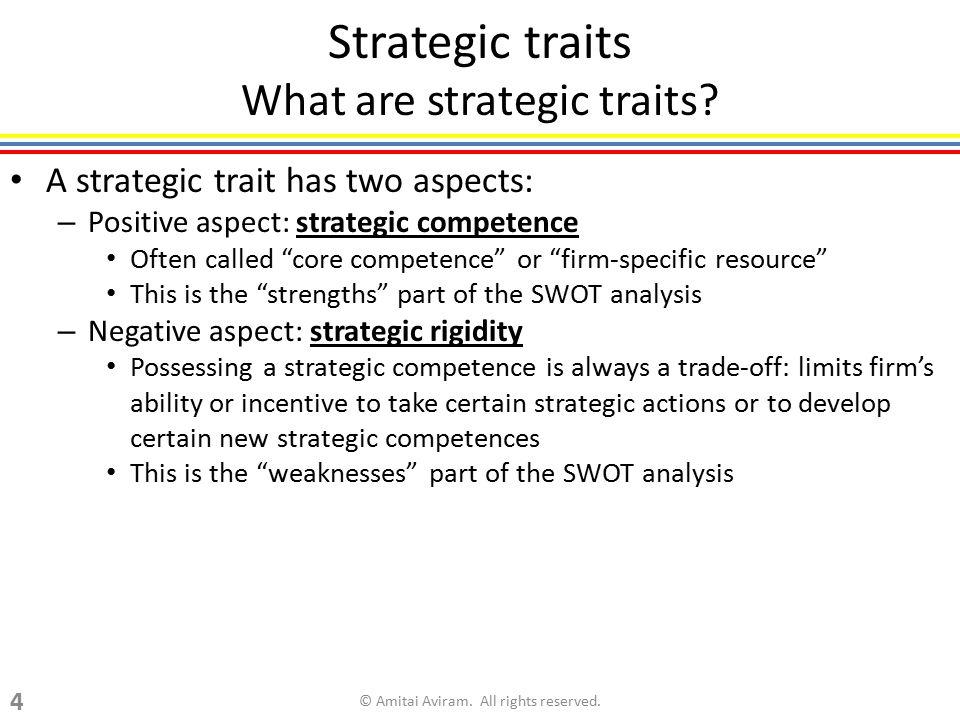 Strategic traits What are strategic traits