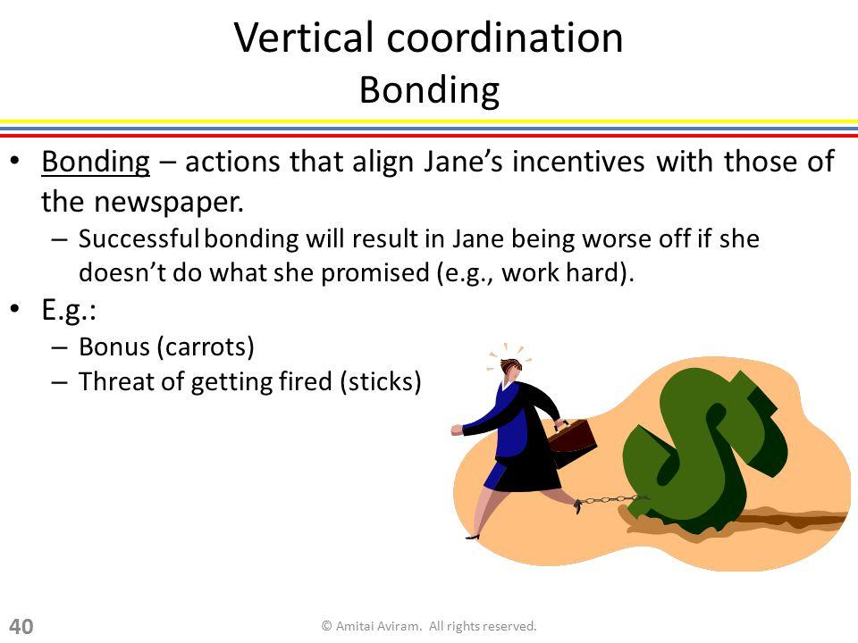 Vertical coordination Bonding