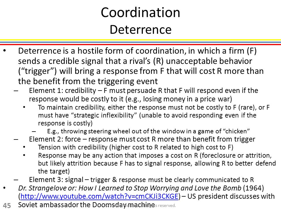 Coordination Deterrence