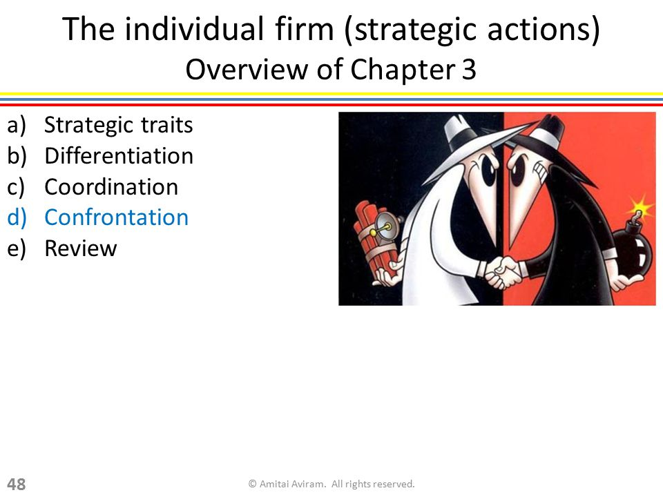 The individual firm (strategic actions) Overview of Chapter 3