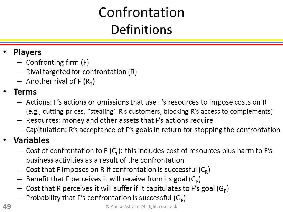 Confrontation Definitions