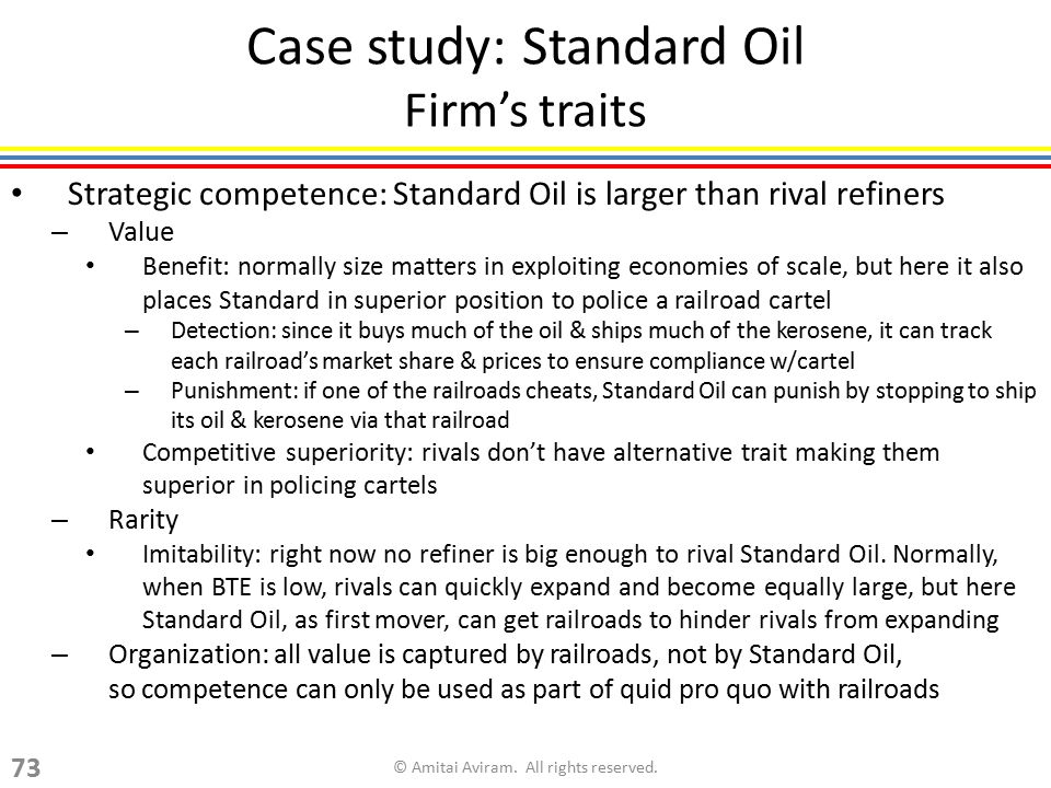 Case study: Standard Oil Firm's traits