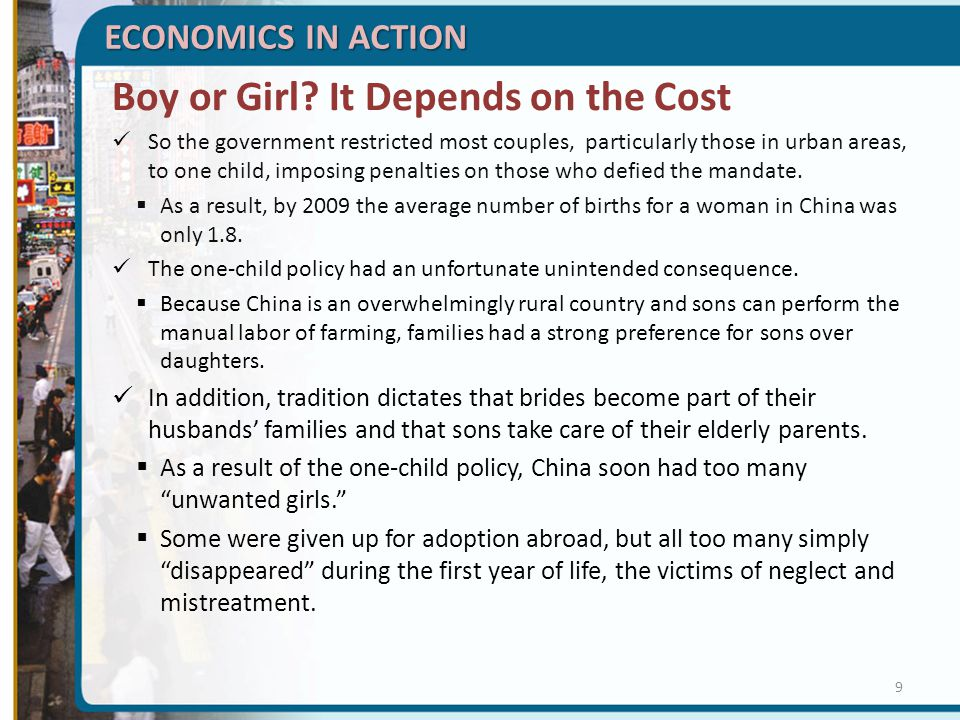Boy or Girl It Depends on the Cost