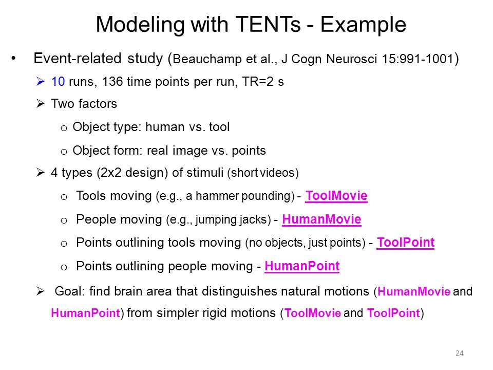 Modeling with TENTs - Example