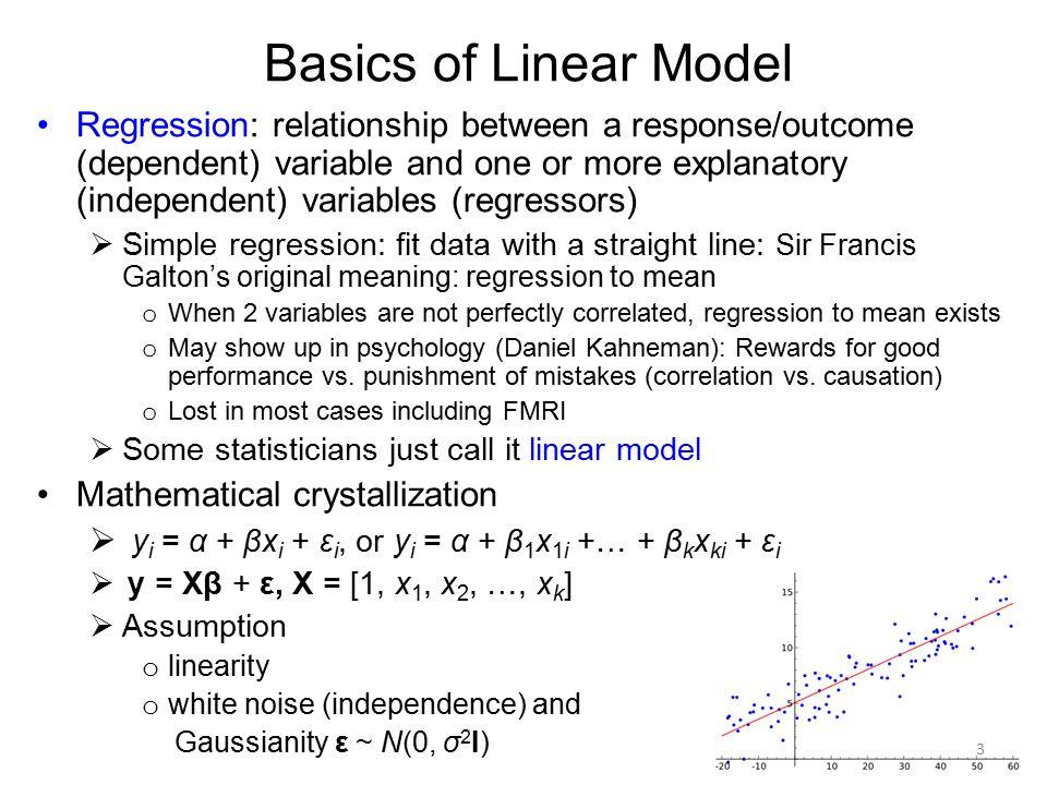 Basics of Linear Model