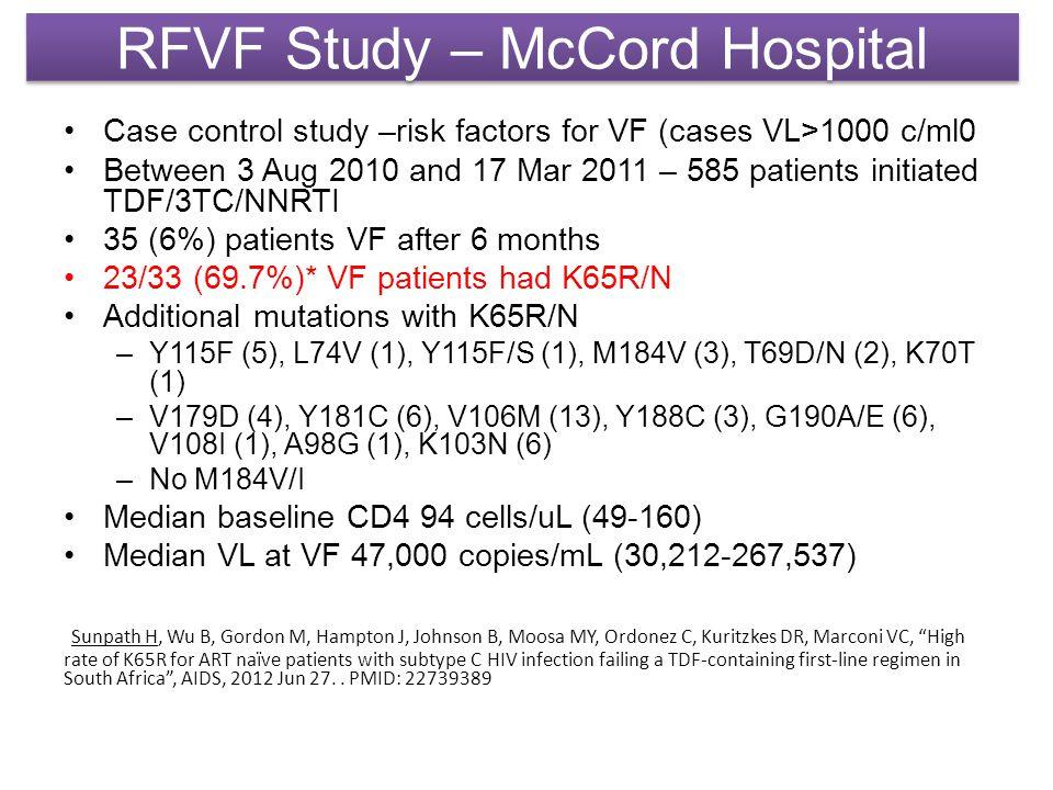 RFVF Study – McCord Hospital