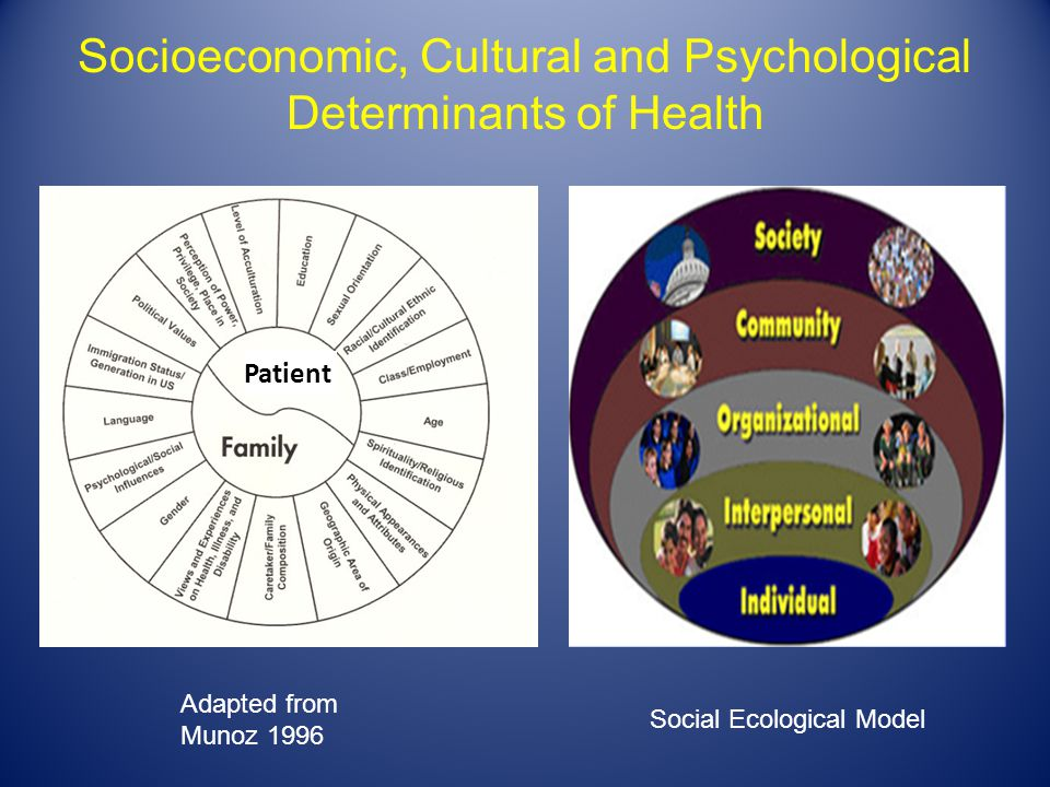 Socioeconomic, Cultural and Psychological Determinants of Health