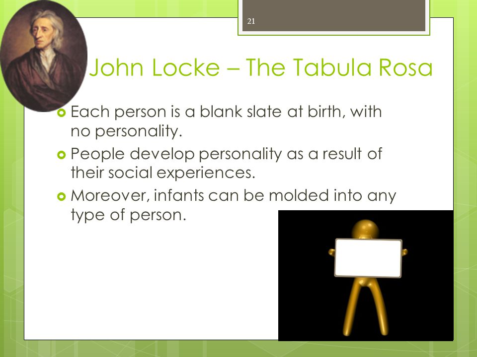 John Locke – The Tabula Rosa