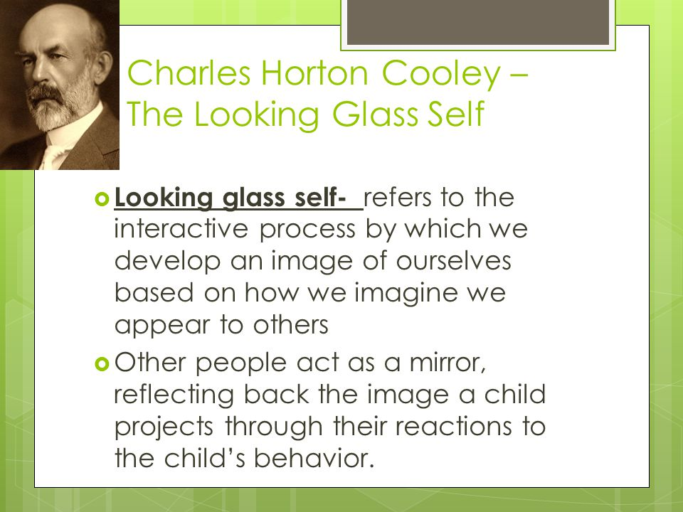 Charles Horton Cooley – The Looking Glass Self