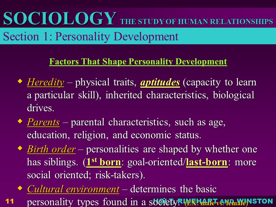 Factors That Shape Personality Development