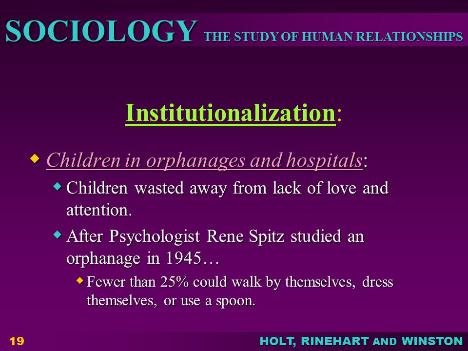Institutionalization: