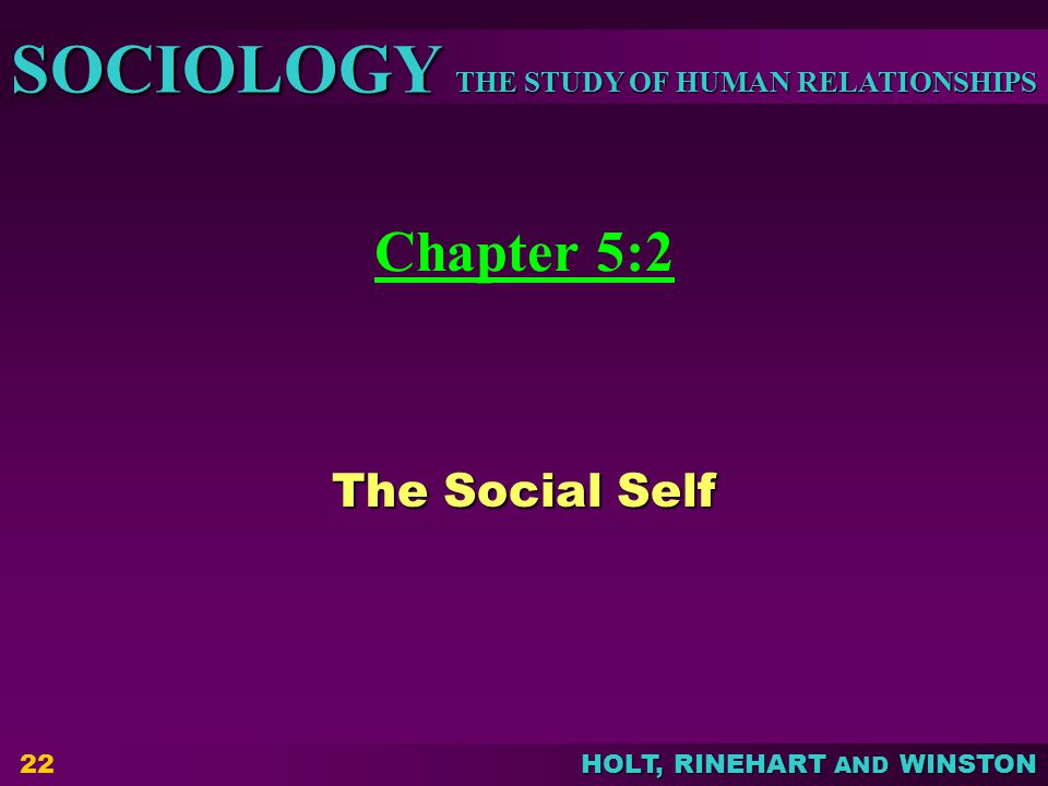 Chapter 5:2 The Social Self