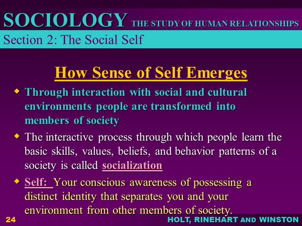How Sense of Self Emerges