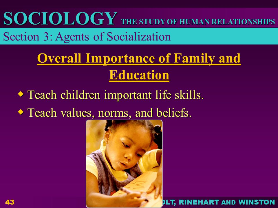 Overall Importance of Family and Education