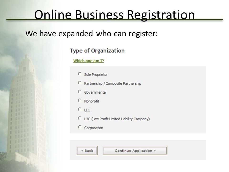 Online Business Registration