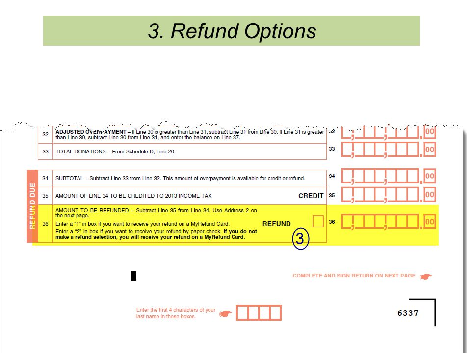3. Refund Options