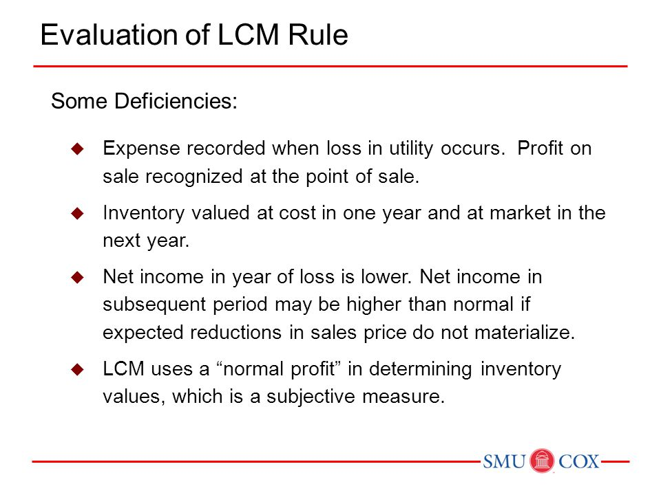 Evaluation of LCM Rule Some Deficiencies: