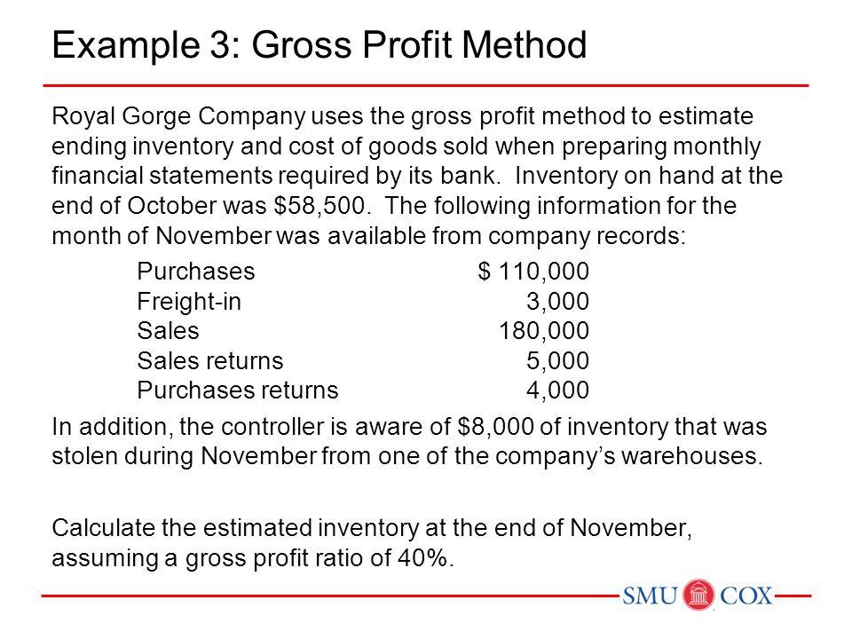 Example 3: Gross Profit Method