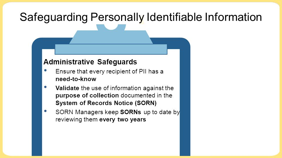 Safeguarding Personally Identifiable Information
