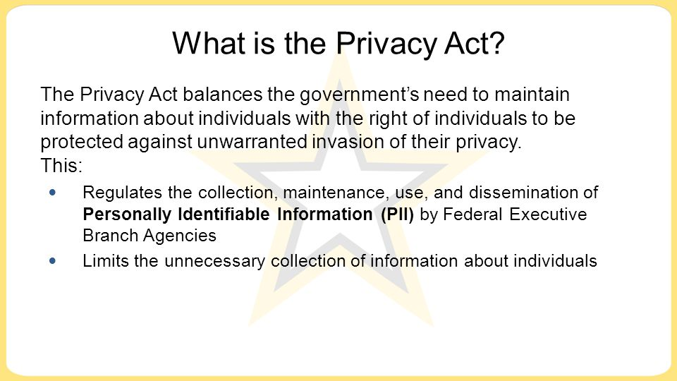 What is the Privacy Act