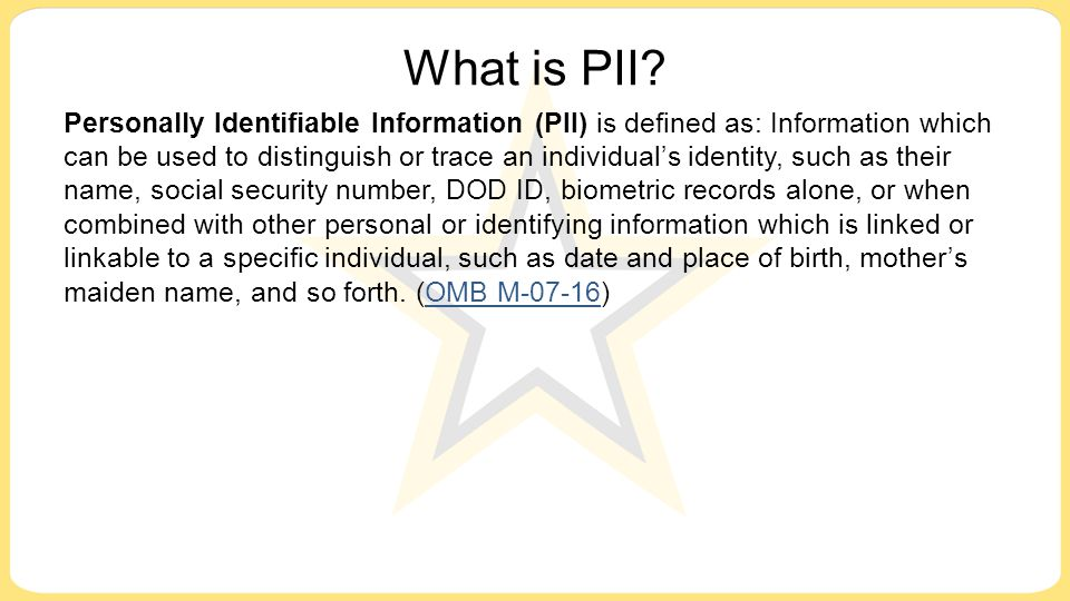 What is PII