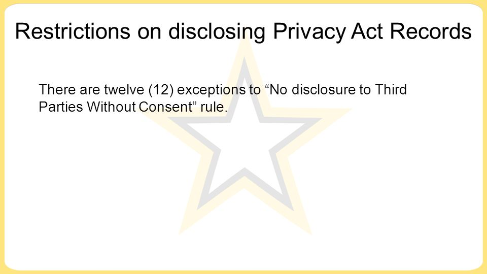 Restrictions on disclosing Privacy Act Records