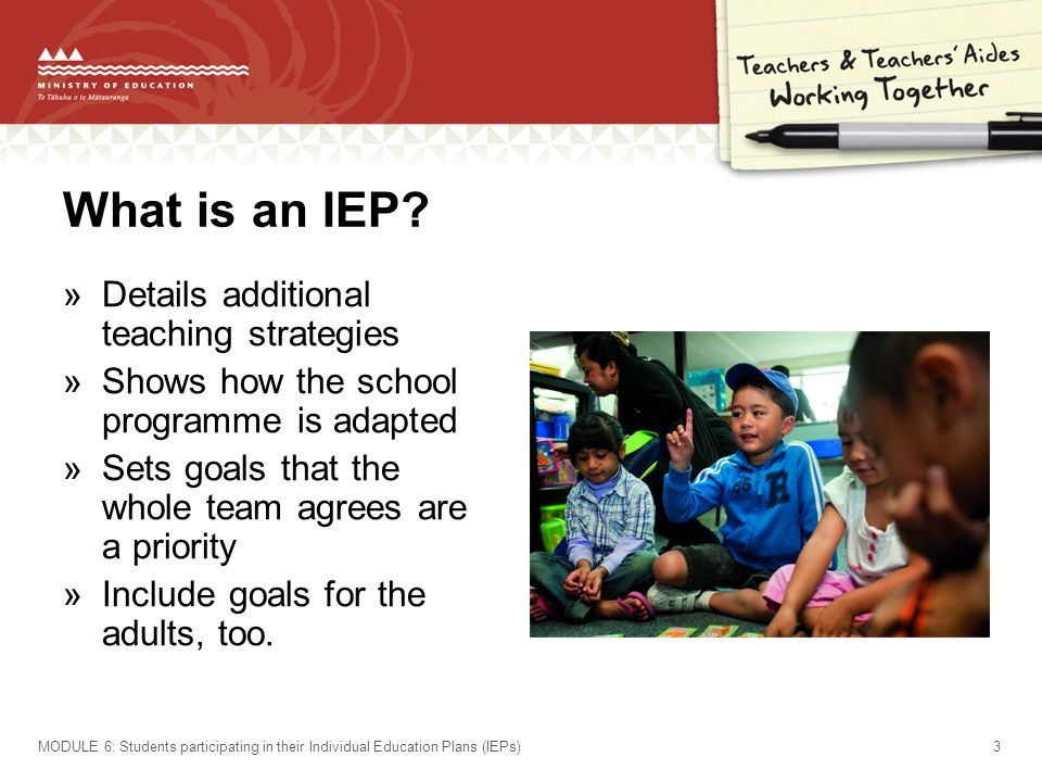 What is an IEP Details additional teaching strategies