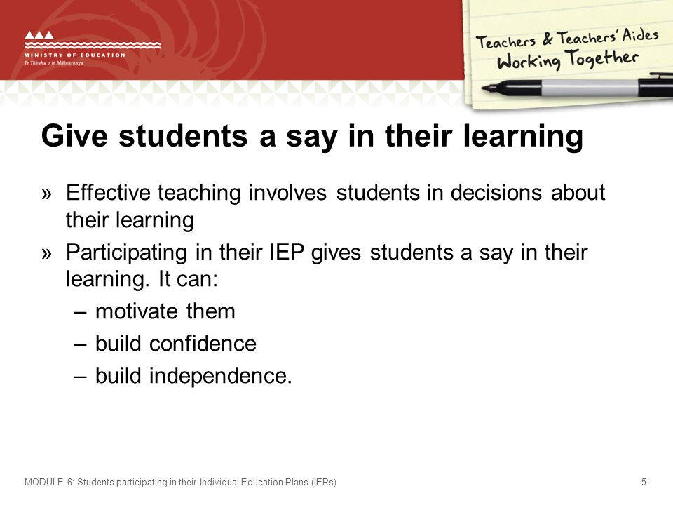Give students a say in their learning