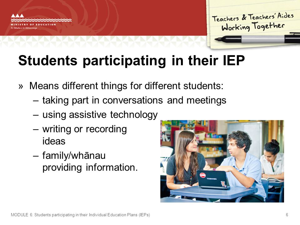 Students participating in their IEP