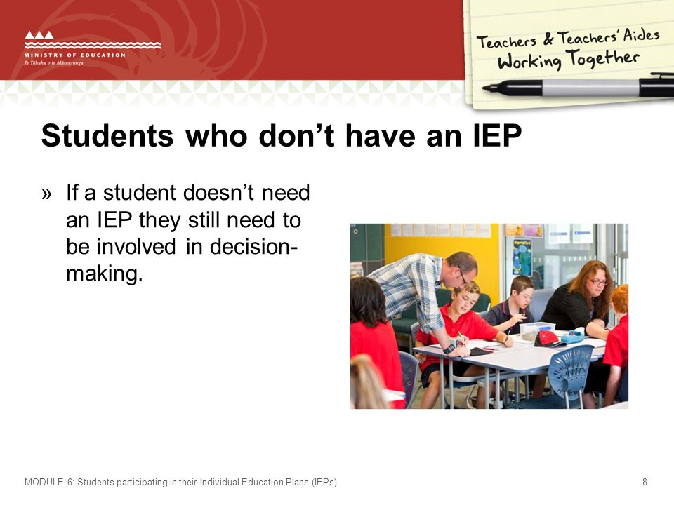 Students who don't have an IEP