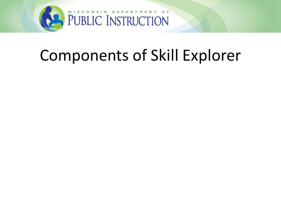 Components of Skill Explorer