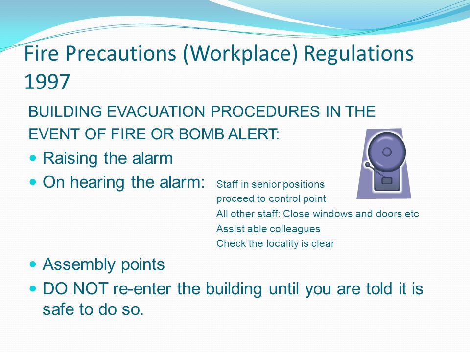Fire Precautions (Workplace) Regulations 1997