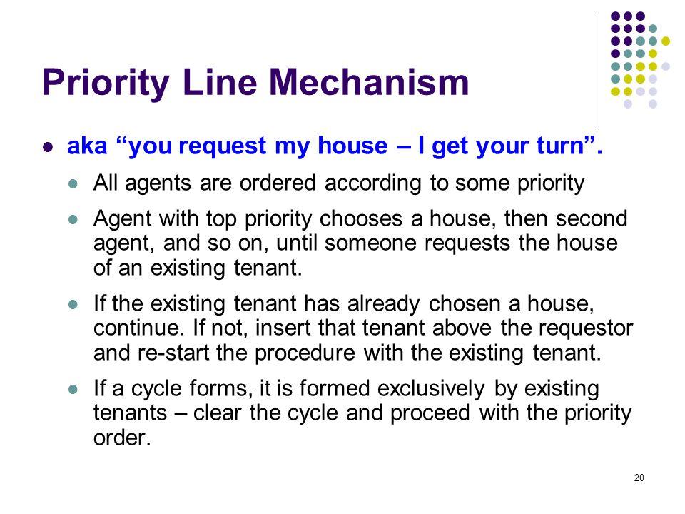 Priority Line Mechanism