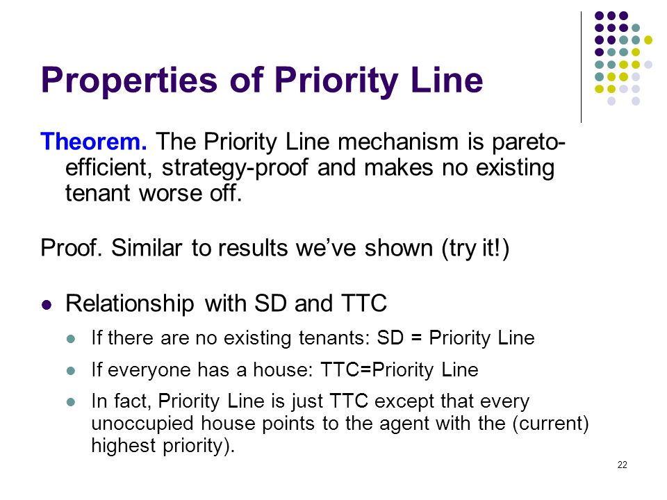 Properties of Priority Line