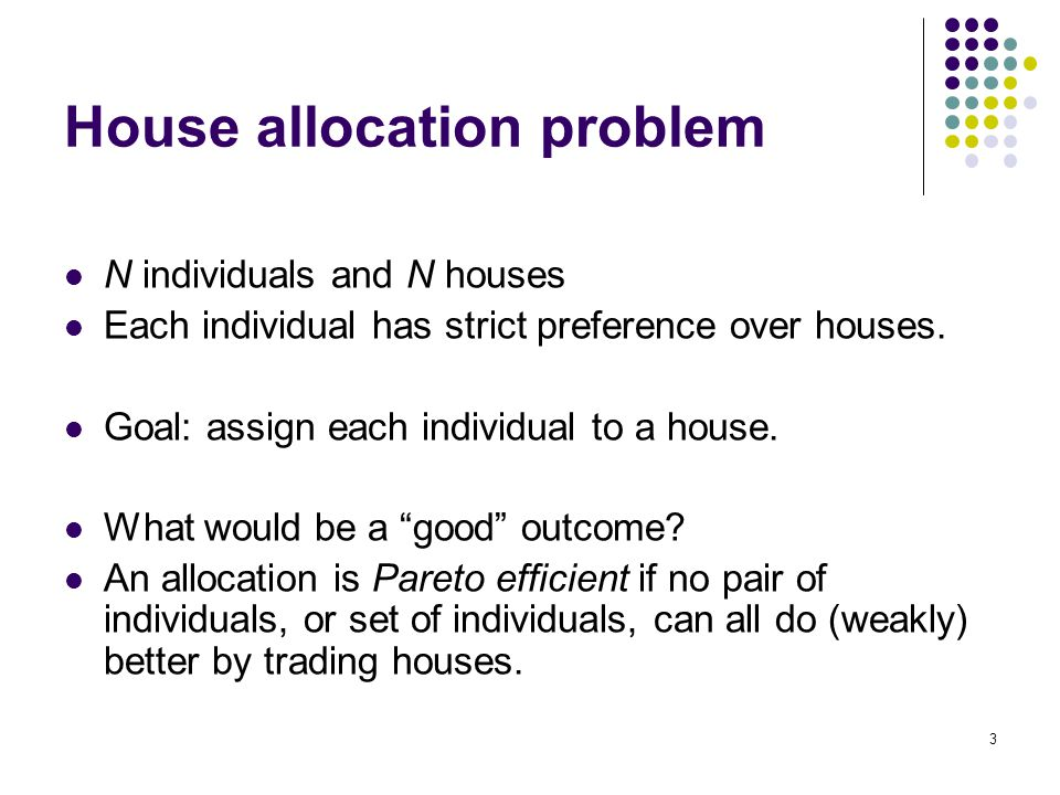 House allocation problem