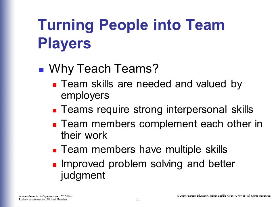 Turning People into Team Players