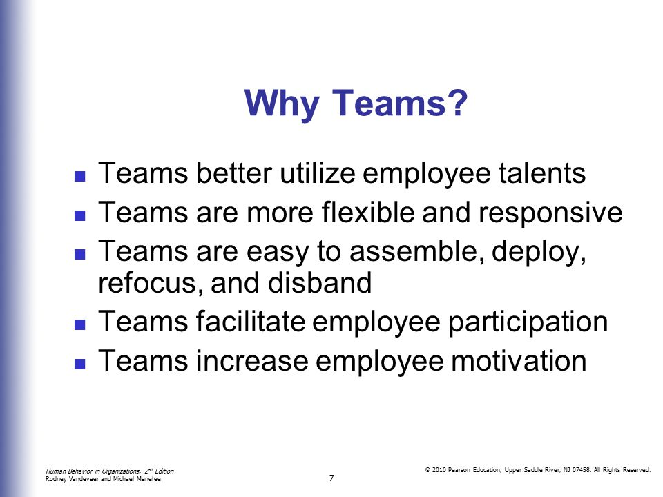 Why Teams Teams better utilize employee talents