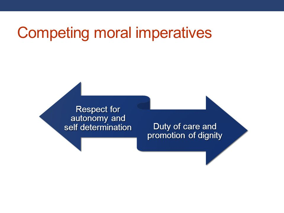 Competing moral imperatives
