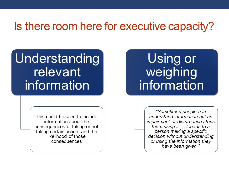 Is there room here for executive capacity