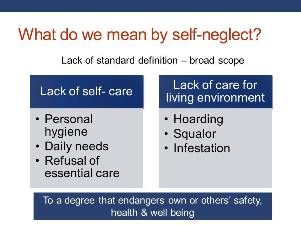 What do we mean by self-neglect