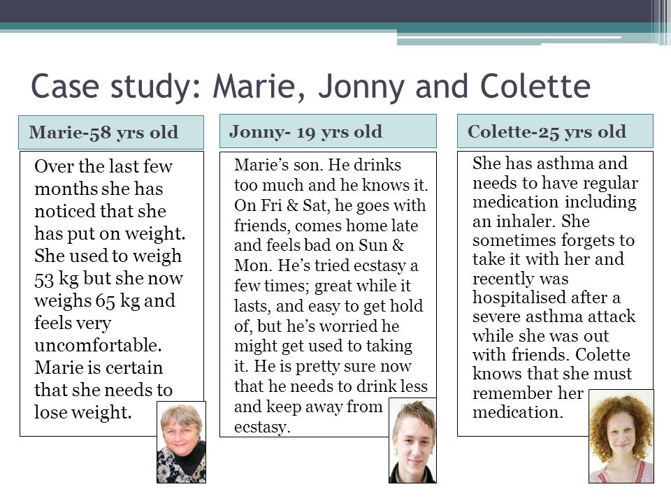 Case study: Marie, Jonny and Colette