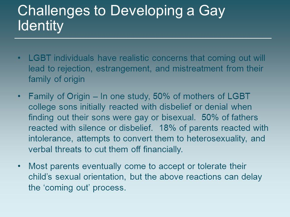 Challenges to Developing a Gay Identity
