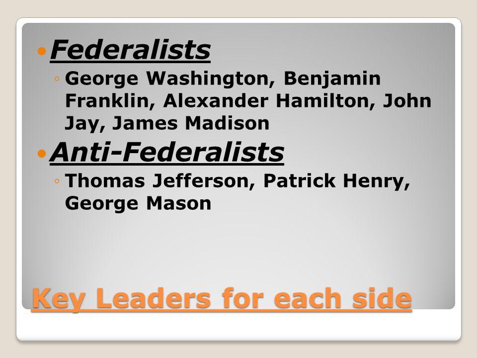 Key Leaders for each side