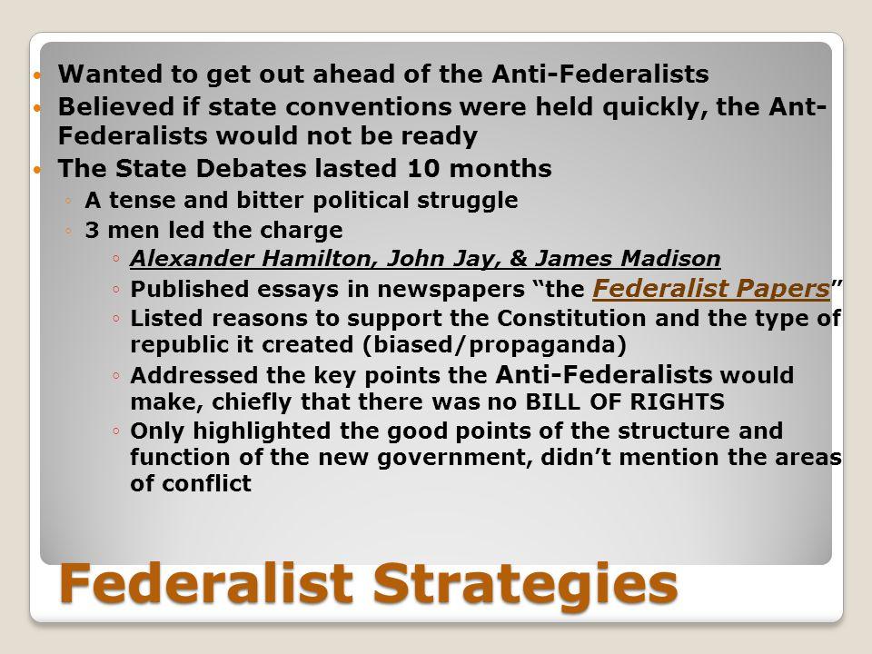 Federalist Strategies