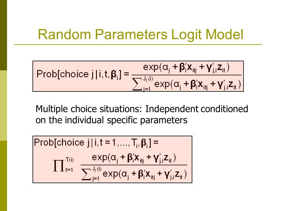 Random Parameters Logit Model