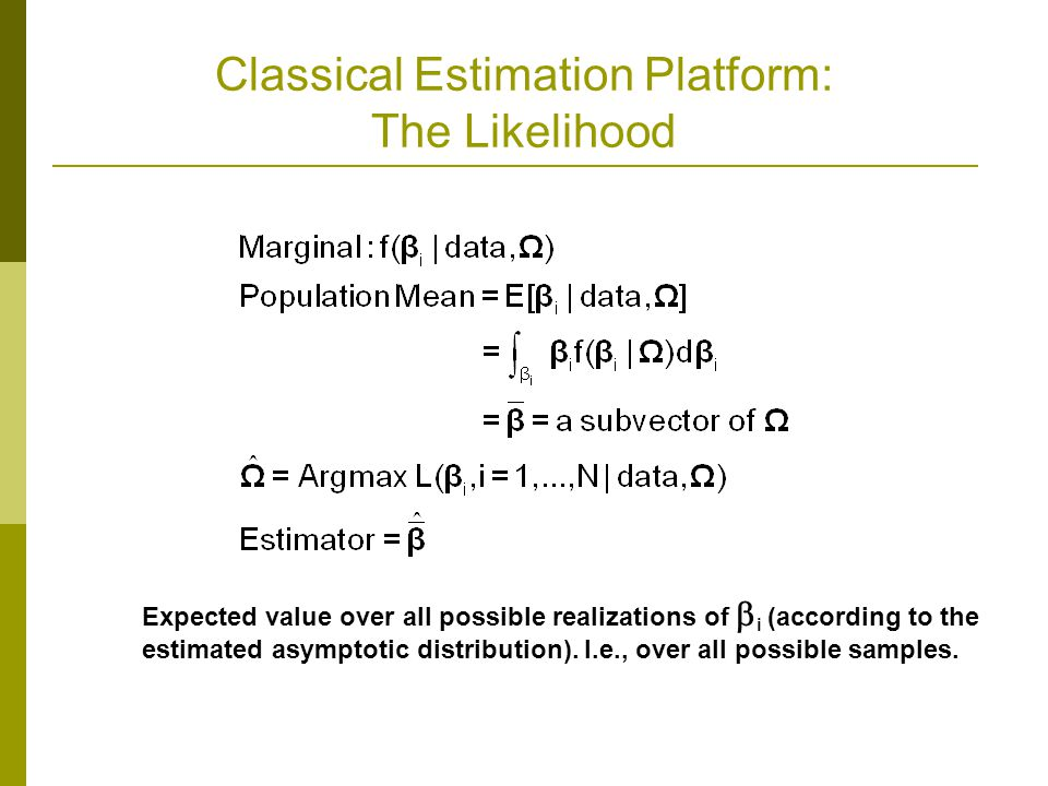 Classical Estimation Platform: The Likelihood