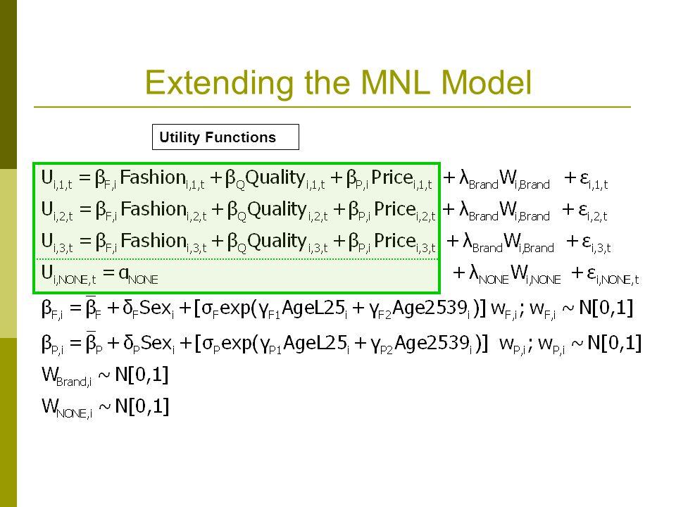 Extending the MNL Model
