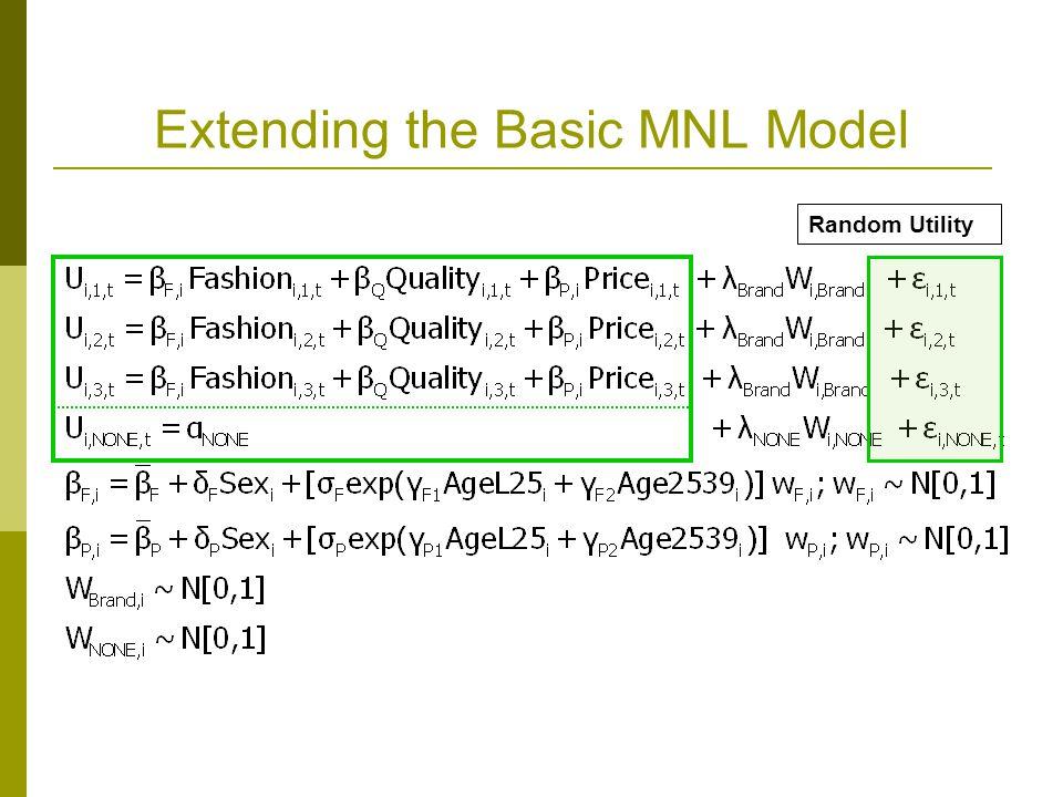 Extending the Basic MNL Model