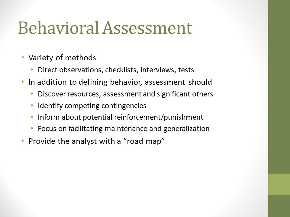 Behavioral Assessment