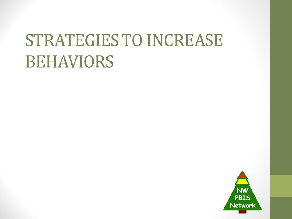Strategies to Increase Behaviors